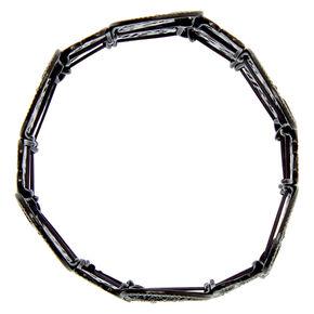 Filigree Stretch Bracelet - Black,