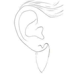 Silver Graduated Heart Hoop Earrings - 3 Pack,