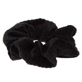 Ribbed Velvet Hair Scrunchie - Black,