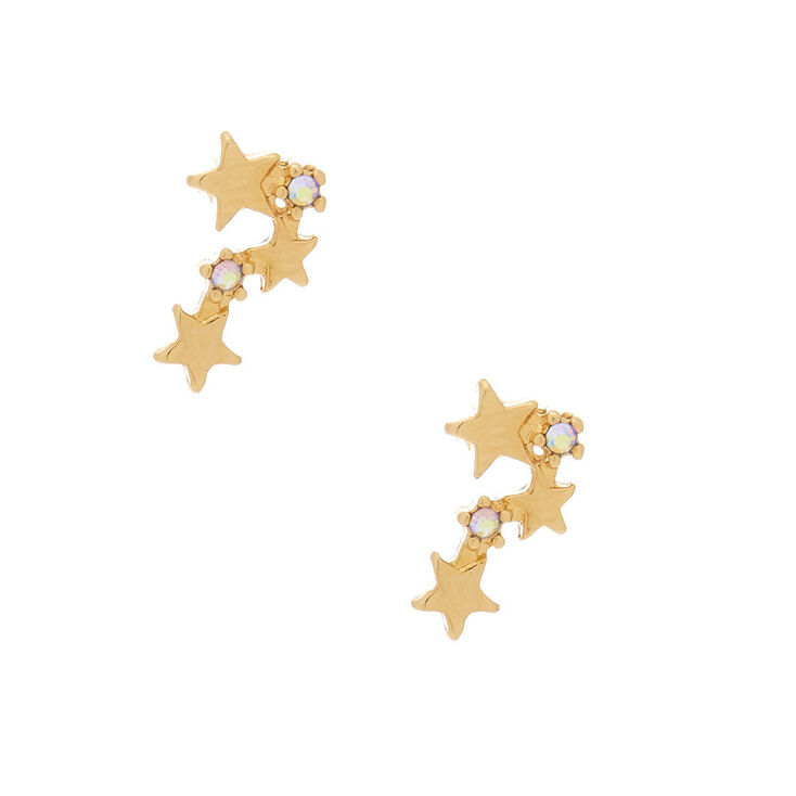 18kt Gold Plated Star Constellation Stud Earrings,