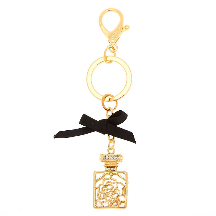 Perfume Bottle Keychain - Gold,