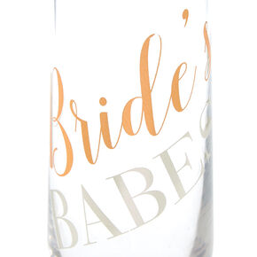 Bride's Babes Stemless Champagne Glass,