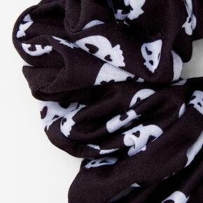 Giant Skull Hair Scrunchie - Black and White,