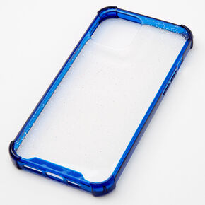 Navy Glitter Clear Phone Case - Fits iPhone 12 Pro Max,