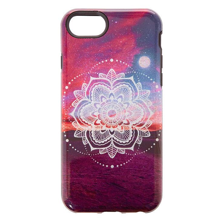Moonlight Mandala Protective Phone Case,