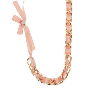 Ribbon Chain Chunky Necklace,