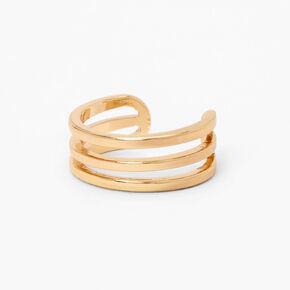 Gold Triple Row Toe Ring,