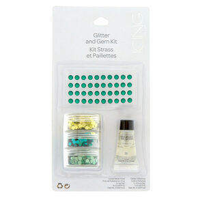Glitter and Gem Kit - Green,