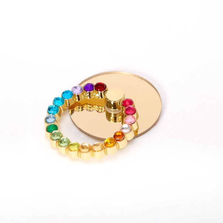 Rainbow Bling Ring Stand - Gold,