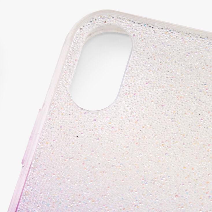 Purple Ombre Caviar Glitter Phone Case - Fits iPhone XR,