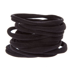 Rolled Hair Ties - Black, 10 Pack,