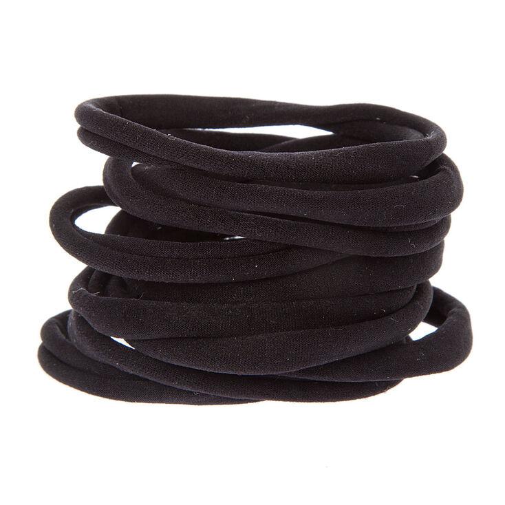 Rolled Hair Ties - Black, 10 Pack,