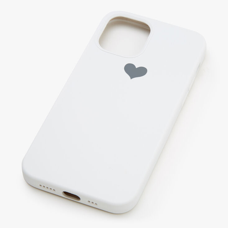 White Heart Protective Phone Case - Fits iPhone 12/12 Pro,