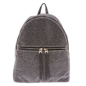 Sparkle Mesh Midi Backpack - Gray,
