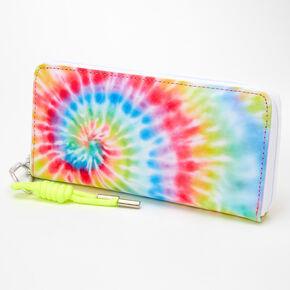 Neon Rainbow Tie Dye Spiral Wristlet,