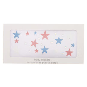 Patriotic Glitter Stars Body Stickers,