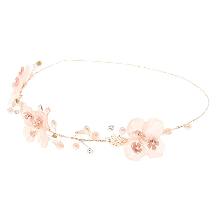 Rose Gold Flower Crown Headwrap - Pink,