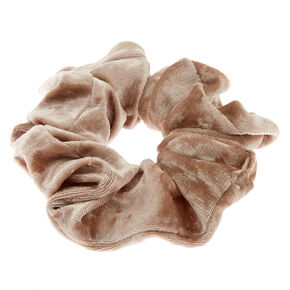 Velvet Hair Scrunchie - Champagne,