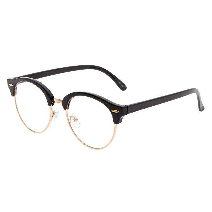 Rose Gold & Black Retro Glasses,