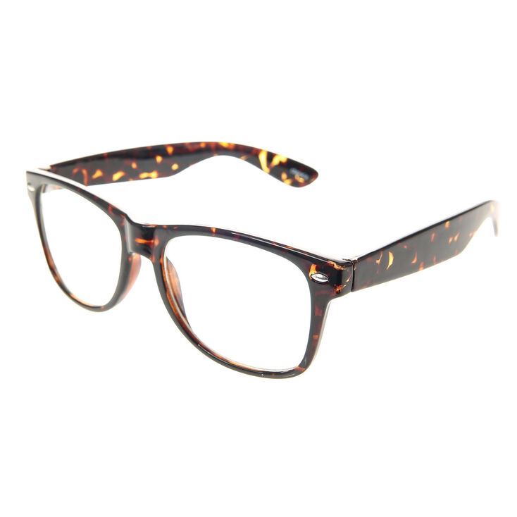 Retro Tortoise Shell Geek Glasses,