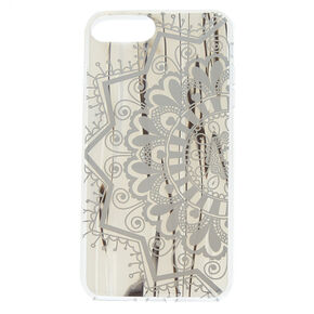 Shiny Shell Mandala Phone Case - Silver,