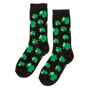 Ombre Shamrock Crew Socks - Black,