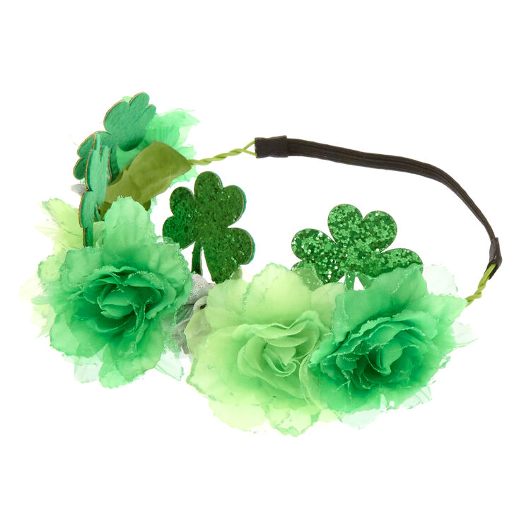 St. Patrick's Day Green Flower Crown,