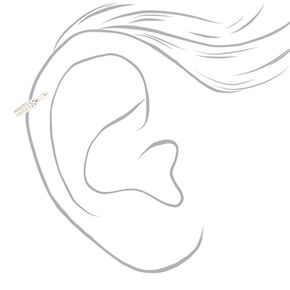 Silver 8MM Braided Faux Cartilage Earring,