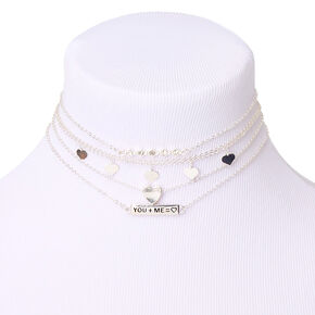 Silver Perfect Match Choker Necklaces - 5 Pack,