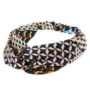 Geometric Twisted Headwrap - Black,