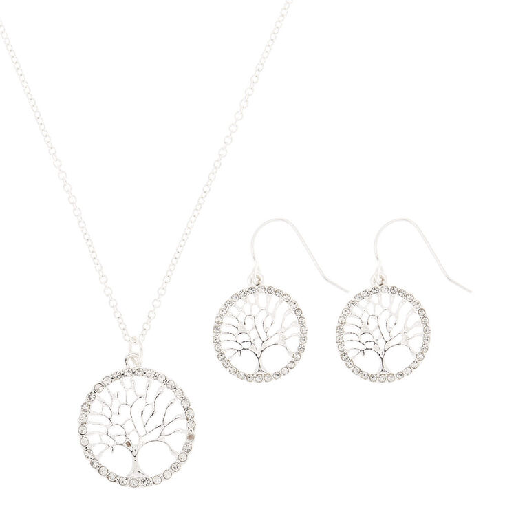 Silver Tree of Life Jewelry Set - 2 Pack,