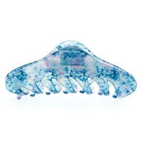 Translucent Marble Hair Claw - Blue,
