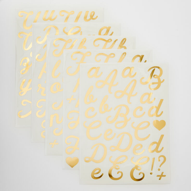 Large Vinyl Initial Stickers - 5 Pack,
