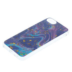 Marbled Gold Flake Phone Case - Purple,