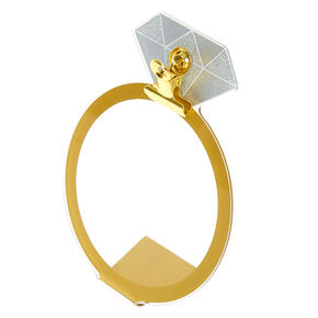 Diamond Ring Instax Photo Holder - Gold,