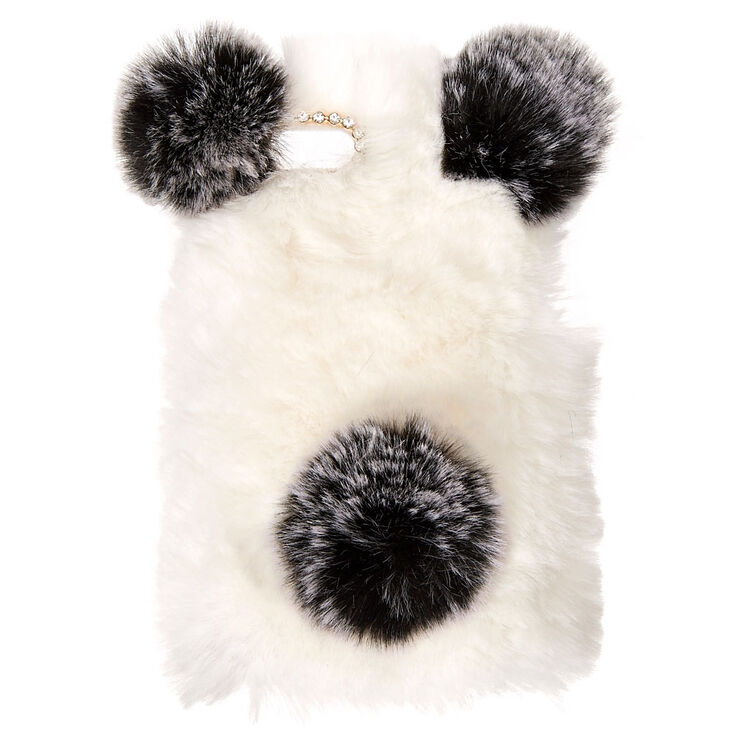 Faux Fur Panda Phone Case,