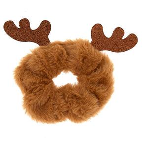 Reindeer Hair Scrunchie - Brown,