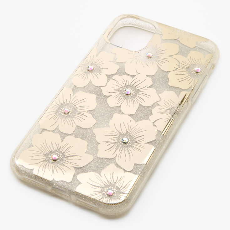 Gold Floral Phone Case - Fits iPhone 11,