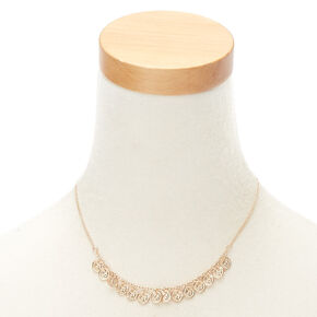 Gold Coin Statement Necklace,