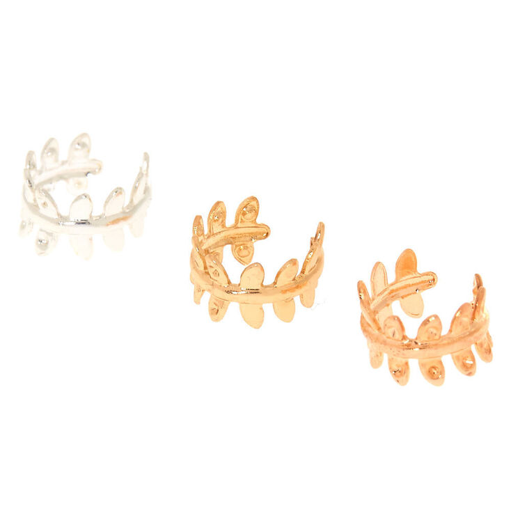 3 Pack Leaf Ear Cuffs,