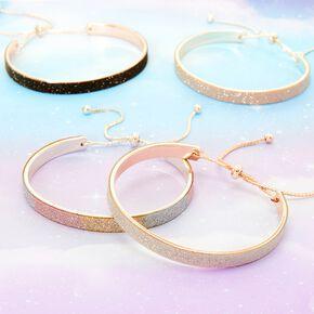 Silver Glitter Cuff Bracelet,