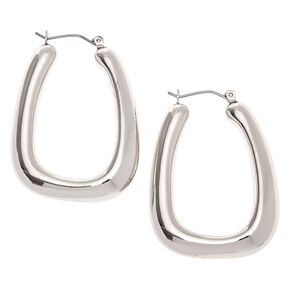 Silver 40MM Tube Hoop Earrings,