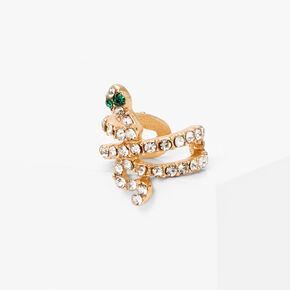 Gold Embellished Snake Ear Cuff,