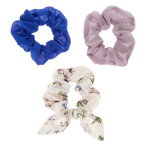 Vintage Floral Hair Scrunchies - 3 Pack,