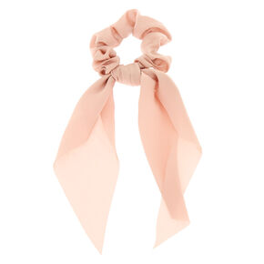Satin Scarf Hair Scrunchie - Nude,