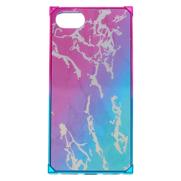 Rainbow Marble Square Phone Case,