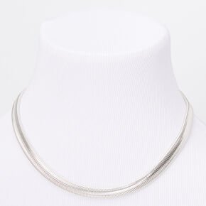 Silver Sleek Snake Chain Necklace,