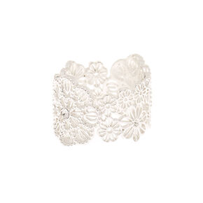 Silver Filigree Flower Ring,