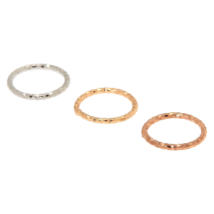 Mixed Metal 20G Shimmer Nose Rings - 3 Pack,
