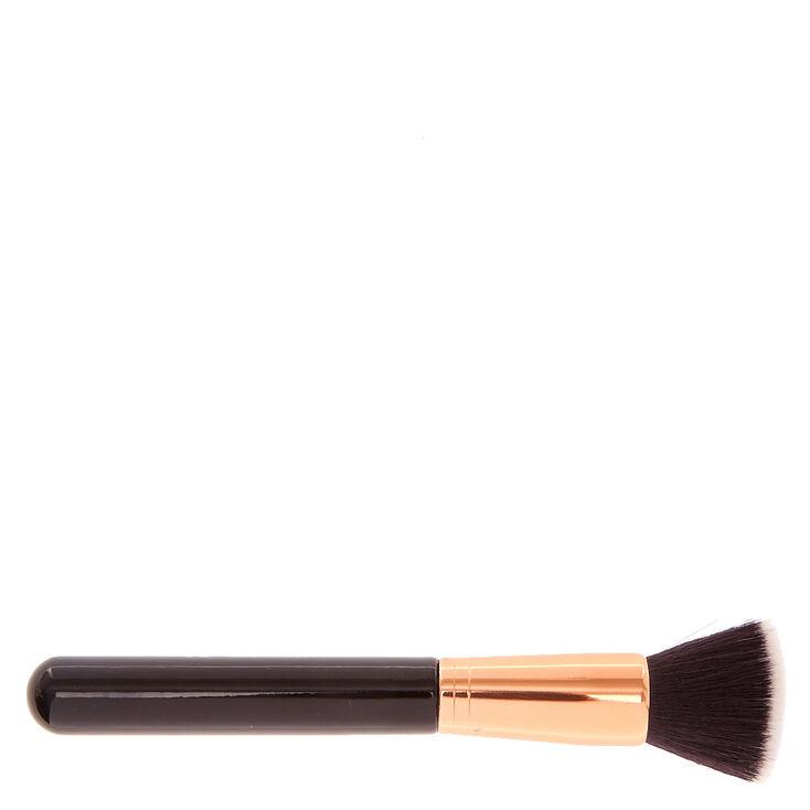 Black Rose Gold Flat Kabuki Makeup Brush Icing Us - Kabuki-makeup